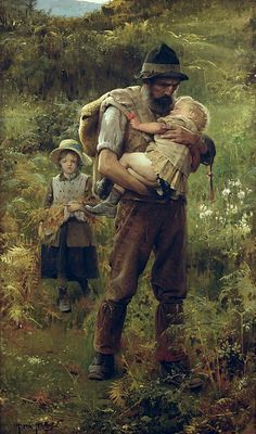 A Heavy Burden by Arthur Hacker - A Heavy Burden Painting - A Heavy Burden Fine Art Prints and Posters for Sale
