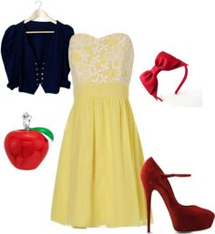 """""""Snow White"""" by missmarisam ❤ liked on Polyvore"""