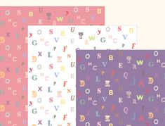 Printable - Lovely scrapbook papers with alphabet pattern