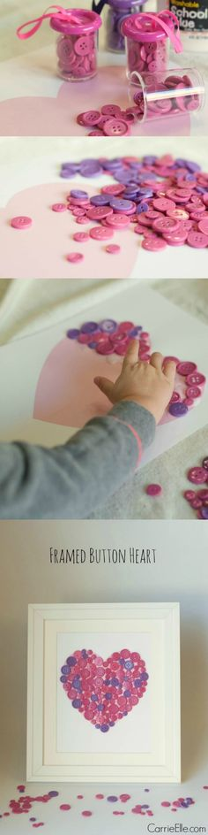 This easy Valentine's Day craft is adorable! It was simple enough for my three-year-old to do by herself, and it only cost a few dollars to make. And it's so cute, we'll hang it up year-round!