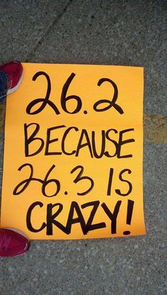 ....because 26.3 is CRAZY #runninghumor
