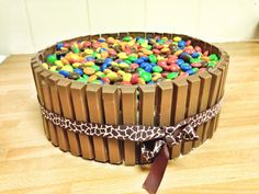 easy candycake, birthdaycake for kids!