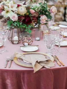 Signature Party Rentals | Wedding Inspiration | Outdoor Weeding | Party Planning | Tablescape | Decor | Design | Wedding Reception | Dusty Mauve | Falling for Autumn