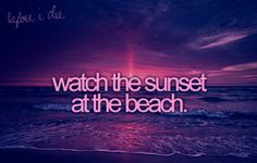 Watch The Sunset at the Beach: Check