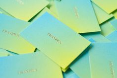 corporate identity and stationary for (the Berlin based fashion label) Franzius by Studio Hausherr