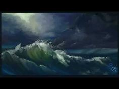 How To Quickly Paint a Stormy Ocean in Artrage Studio Pro - YouTube