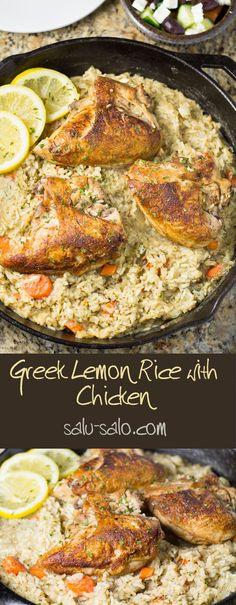 Lemon Chicken Rice Soup, Greek Lemon Rice Soup, Creamy Lemon Chicken, Greek Lemon Chicken, Chicken Soup Recipes, Chicken Meals, Greek Dishes, Main Dishes, Greek Recipes