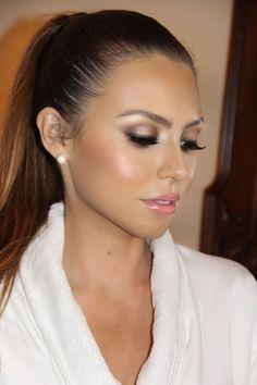 Rich and soft wedding makeup