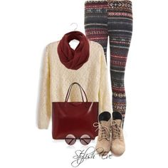 Leggings with a long cozy shirt and scarf Cute Winter Outfits, Dressy Outfits, Fall Outfits, Summer Outfits, Cute Outfits, Summer Clothes, Cute Fashion, Unique Fashion, Womens Fashion