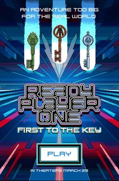 Ready Player One. Ready Player One Movie, Retro Arcade, Player 1, Wreck It Ralph, Alternative Movie Posters, Cultura Pop, Book Fandoms, Movies Showing, Arcade Games