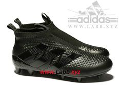 purchase cheap 7c887 3052a Adidas Football Chaussure ACE 16+ Purcontrol terrain souple All Black  AQ2627 Adidas Ace, Adidas