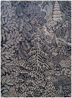 Overlook Woodcut Print by Tugboat Printshop