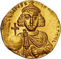 American Numismatic Society: Gold Solidus of Anastasius II, Constantinople, 713 - 715. 1944.100.14586