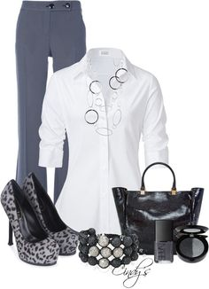 """Stylish Work Outfits!"" by cindycook10 on Polyvore - Click image to find more Women's Fashion Pinterest pins"