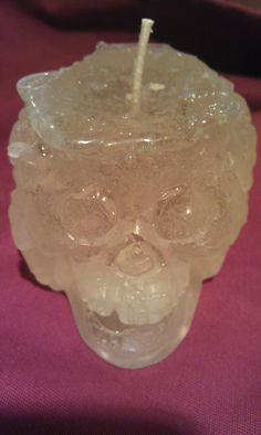 Crystal skull CAndle  he laughs ... So cool. @ the southern baked candle company  803-456-3011