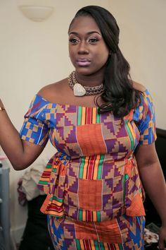 Sulley & Rebecca | Kente Bride ~African fashion, Ankara, kitenge, African women dresses, African prints, African men's fashion, Nigerian style, Ghanaian fashion ~DKK
