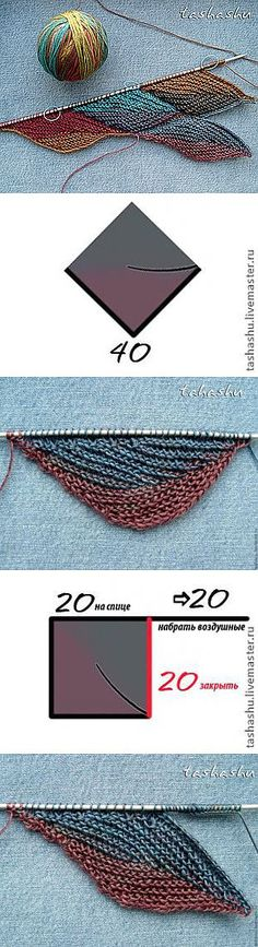 more short row knitting loveliness Knitting Short Rows, Knitting Stiches, Knitting Charts, Lace Knitting, Crochet Stitches, Knitting Designs, Knitting Projects, Freeform Crochet, Knit Crochet