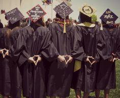 Graduation | Kappa Alpha Theta | Decorated grad caps | Monograms and Kites. TSM.