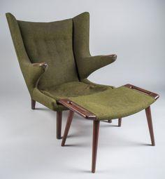 Hans Wegner Papa Bear Chair & Ottoman