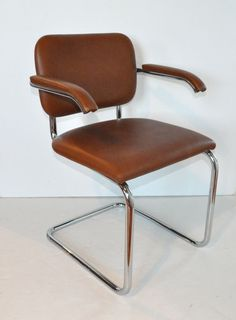 """""""Cesca"""" Dining Chair - Marcel Breuer, KNOLL   his home office"""