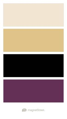 Champagne Gold Black And Eggplant Wedding Color Palette Custom Created