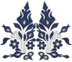 Výšivka Očová, modrá,  24 x 20 cm