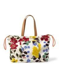 Beach Bag (Multi Painterly Floral)
