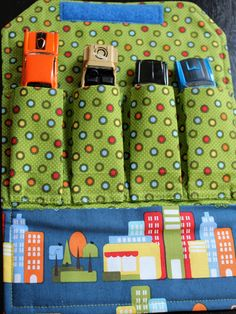 How cute is this? 3 Buttons Studio: Car Wallet, Toy Car Carrier, Car wrap. $15.50, via Etsy.