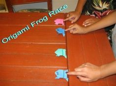 Origami Frog Race