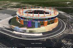 Modelação 3D do Estádio Municipal de Aveiro.  Pode encontrar este nosso trabalho na camada earth do google maps.