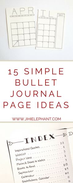 15 Simple Bullet Journal Page Ideas for the not-so-artsy | Jihi Elephant