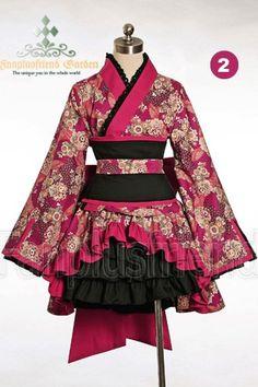 Red kimono style, SO CUTE!