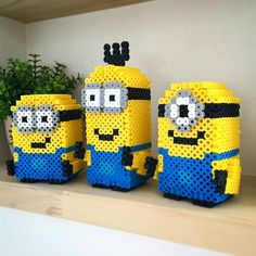 3D Minion set perler beads by smileport