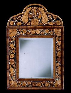 Circa 1690 A WILLIAM AND MARY MARQUETRY CUSHION MIRROR - English Antique Furniture – Ronald Philli... $18,000.00 to $90,000.00