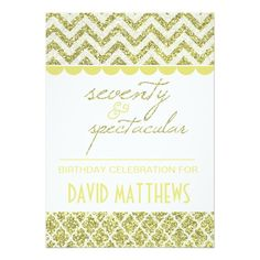 Shop Gold Glitter Forty and Fabulous Birthday Invite created by birthdayTshirts. Chevron Birthday, 50th Birthday Party, It's Your Birthday, Birthday Party Invitations, Birthday Celebration, Invitation Design, Invite, Fabulous Birthday, Milestone Birthdays
