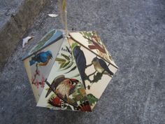 """Another view of the first place winner in the Kids division for our 2014 UNBOUND Book Art & Craft Contest - Elena's """"Home for Vintage Birds."""""""