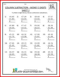 math worksheet : 1000 images about 4th grade math worksheets on pinterest  math  : Subtraction Column Method Worksheets
