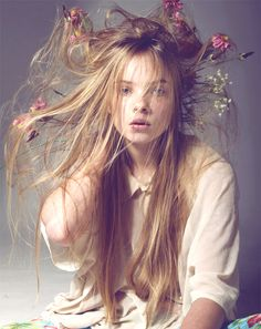 wear some flowers in your hair