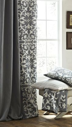 Curtains for Master Bedroom Olivia Ash Gray White Drapery Panel Gray Bedroom, Trendy Bedroom, Bedroom Colors, Bedroom Ideas, Master Bedrooms, Bedroom Decor, Grey And White Curtains, Grey Curtains, Shower Curtains