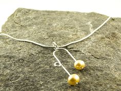 silver and pearl necklace with pale golden freshwater pearls €28 by LaPetiteMaisonBijoux