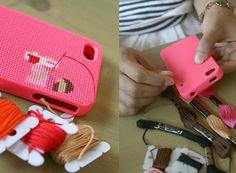 cross stitch your phone case
