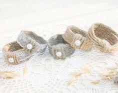 CONJUNTO de anillos de servilleta de boda de por FriendlyEvents