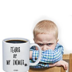 Tears Of My Enemies Coffee & Tea Funny Mug Unique Hilarious Sarcastic Quote Saying Novelty Teacup Ceramic Sarcasm Cup Cool Kitchen Gadgets, Cool Kitchens, Sarcastic Quotes, Funny Mugs, Favorite Person, Cool Gifts, Birthday Gifts, Tea Cups, Coffee Mugs