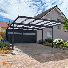 Car Porch Design, Home Design Diy, Garage Design, House Design, Carport Shade, Carport Canopy, Patio Canopy, Garage Exterior, Outdoor Patio Designs