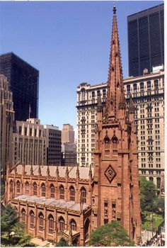 Trinity Church, 1841-1846; New York City, NY; Richard Upjohn.  Gothic Revival.