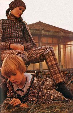 Fashion photography by Sarah Moon, 1970.