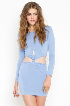 Double Knot Dress - Sky Blue (nasty gal) I feel like this wouldn't be too hard to make