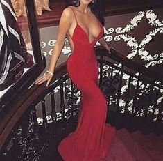 Red Prom Dress,Mermaid Prom Dress,Backless Prom Dress,Fashion Prom