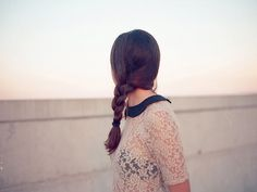 braid + lace + peter pan collar = in love with this look!