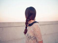 braid + lace + peter pan collar